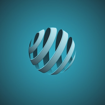 Spiral sphere abstract lines