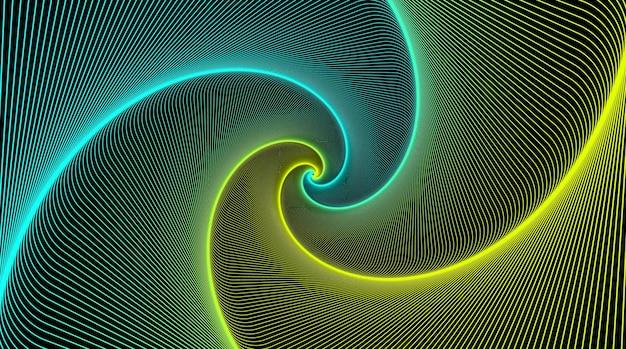 Иллюзия спиралей с черным фоном