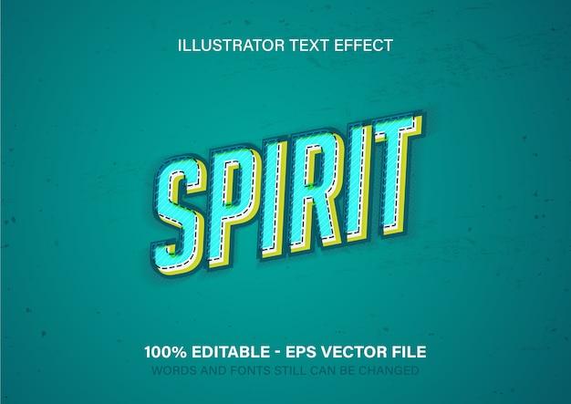 Текстовый эффект духа