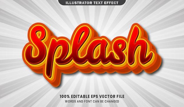 Splash 3d editable text style effect
