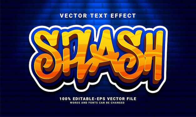 Splash 3d text effect, editable graffiti and colorful text style