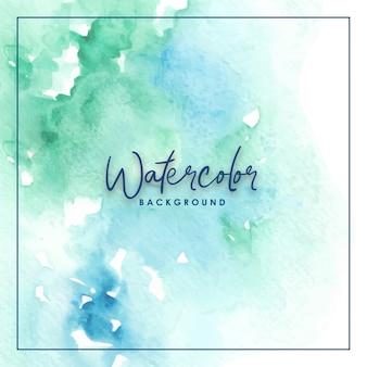 Splash watercolor background green blue