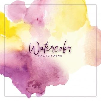 Splash watercolor background purple yellow
