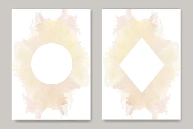 스플래시 수채화 배경 템플릿 카드