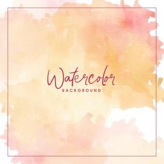 Splash watercolor red orange