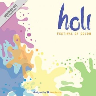 Splashes of colors holi background