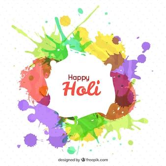 Splashes of colors holi festival background