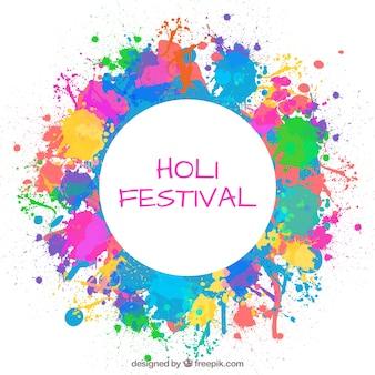 Splashes paint holi festival background