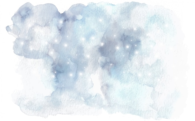 Splatter watercolor of winter theme