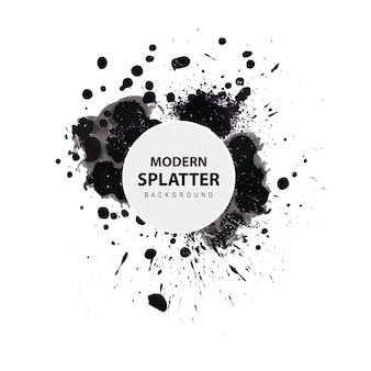 Акварель современный фон splatter