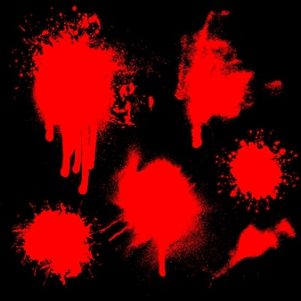 Splatters of blood