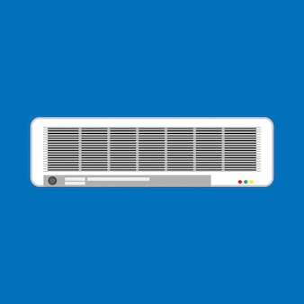 Split air conditioner climate control white. isolated appliance system ventilation equipment