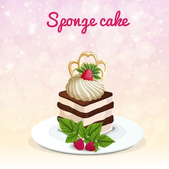 Sponge cake illustration