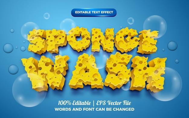 Sponge wash 3d editable text effect