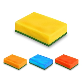 Sponge for washing dish collection set