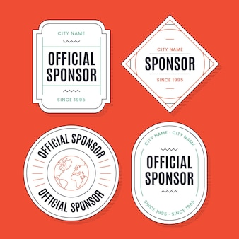 Sponsor label collection template