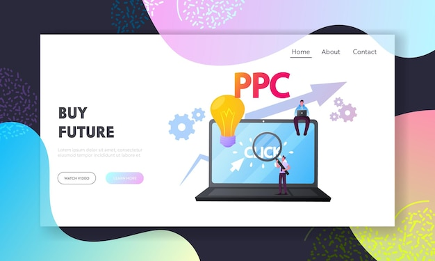 Sponsored listing, pay per click landing page template