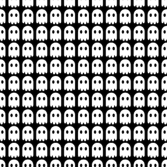 Spook halloween seamless pattern