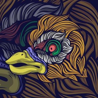 Spooky bird creature