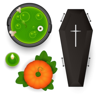 Spooky design elements for halloween