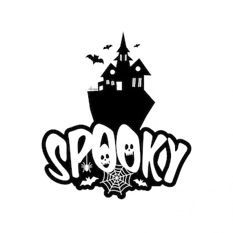 Spooky fun with typography design vector