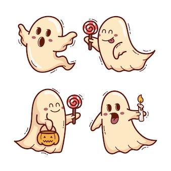 Жуткий призрак хэллоуин мультфильм