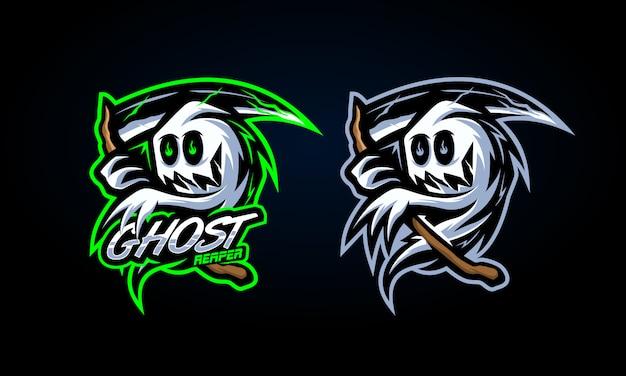 Spooky ghost reaper sticker