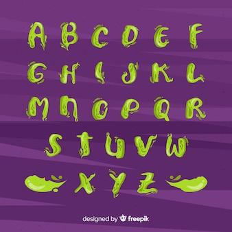 Spooky halloween alphabet set
