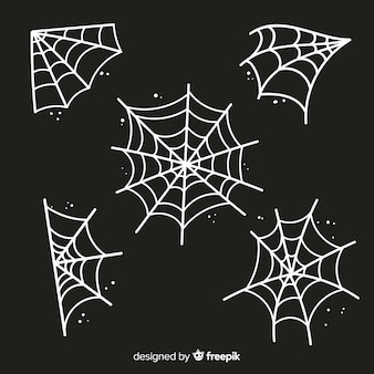 Spooky halloween cobweb decoration element