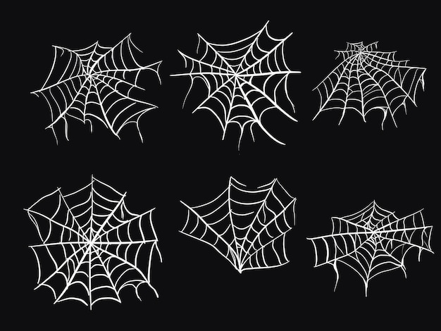 Spooky halloween cobweb