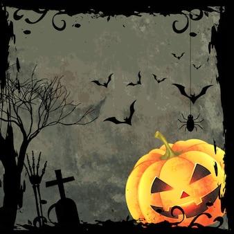Spooky halloween design background