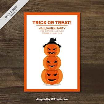 Spooky halloween pumpkins flyer