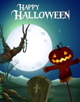 Spooky happy halloween template