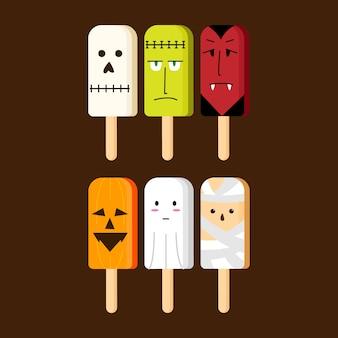 짜증 아이스크림 일러스트 할로윈 휴가