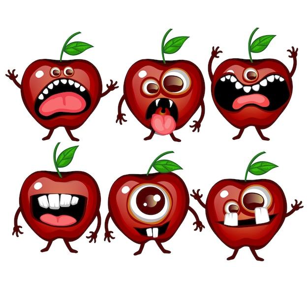 Жуткий монстр фрукты страшное яблоко