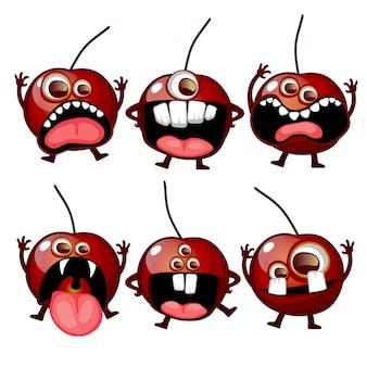 Жуткий монстр фрукты страшная вишня