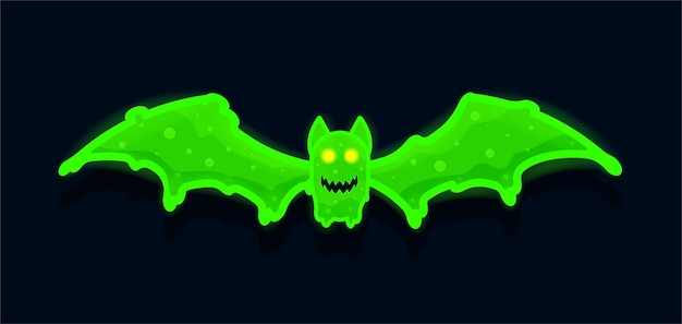 Spooky realistic bat with radiation slime perfect for halloween parties banner