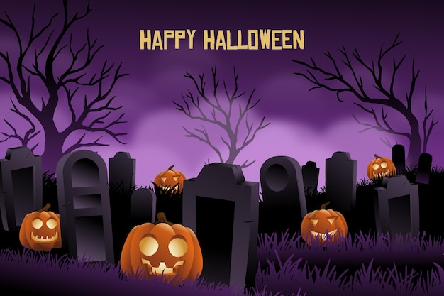 Spooky realistic halloween background