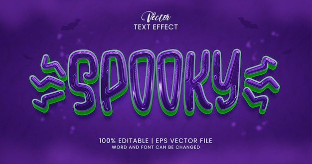Spooky text, horror editable text effect style template