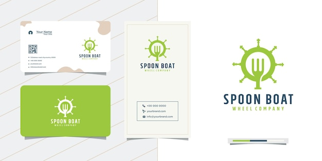 Spoon and business card steering wheel design