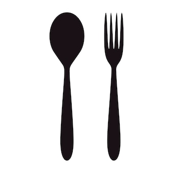 Spoon and fork icon. restaurant design.