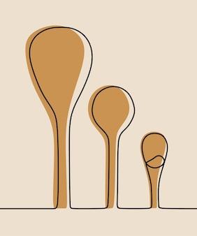 Spoon oneline continuous line art