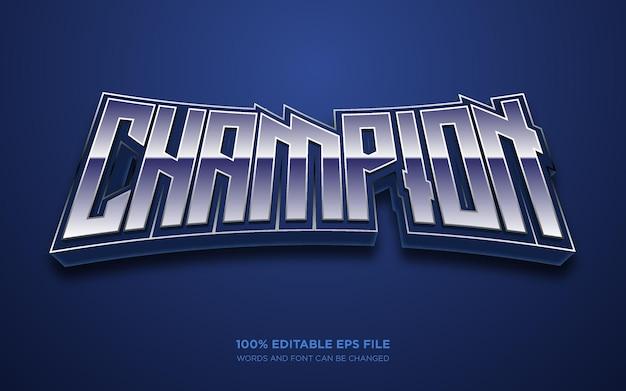 Sport 3d editable text style effect