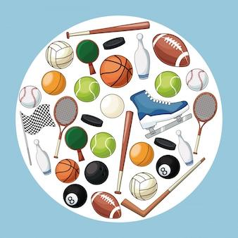 Sport accessories equipment icon