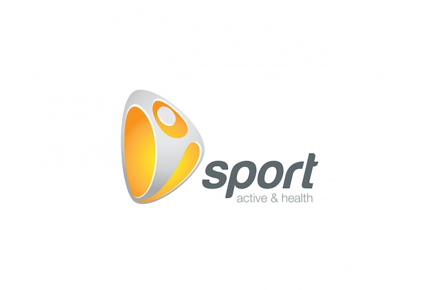 Sport active logo template