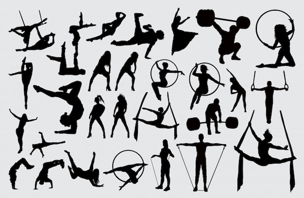 Sport activity silhouette.