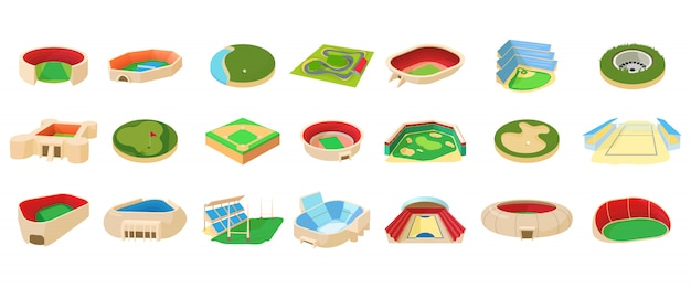 Sport arena icon set