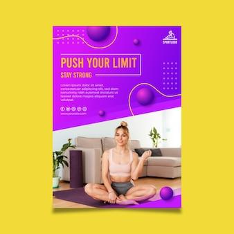 自宅でのポスターデザインのスポーツ