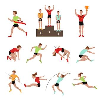 スポーツ選手の勝者のイラスト。