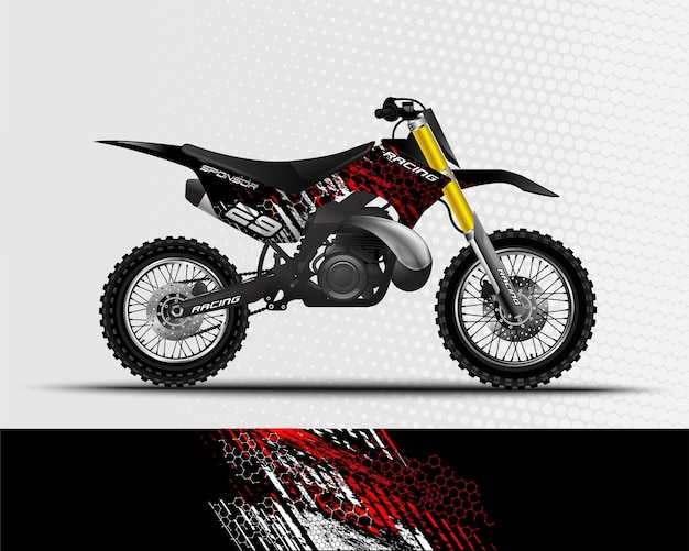 Спортивный фон абстрактный дизайн для гонок на мотоцикле, мотокроссе, байке